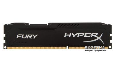 Оперативна пам'ять HyperX DDR3-1600 16384MB PC3-12800 (Kit of 2x8192) FURY Black (HX316C10FBK2/16)