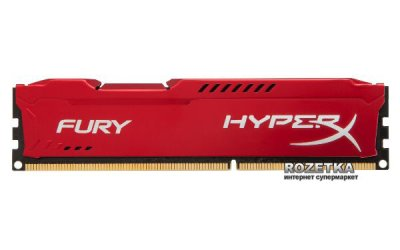 Оперативна пам'ять HyperX DDR3-1600 16384MB PC3-12800 (Kit of 2x8192) FURY Red (HX316C10FRK2/16)