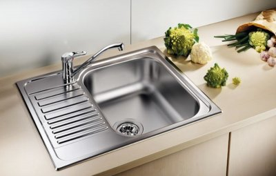 Кухонная мойка BLANCO TIPO 45 S mini (516524) + сливной гарнитур (222404)