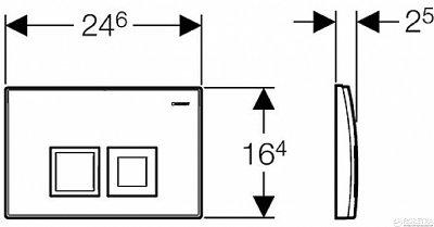 Панель смыва GEBERIT Delta 50 хром матовый 115.135.46.1