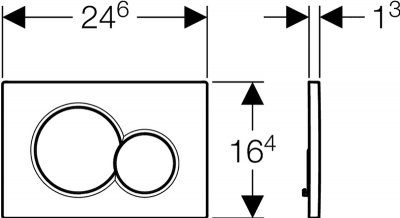 Панель смыва GEBERIT Sigma 01 белый 115.770.11.5