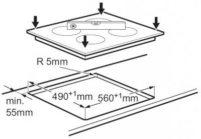 Варочная поверхность электрическая ZANUSSI ZEI5680FB