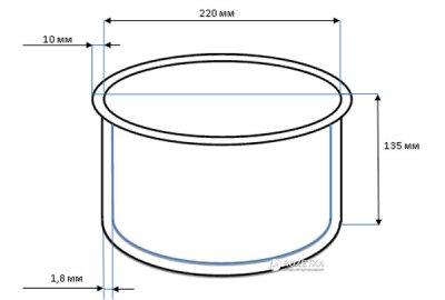 Чаша для мультиварок-скороварок ROTEX RIP5018-C