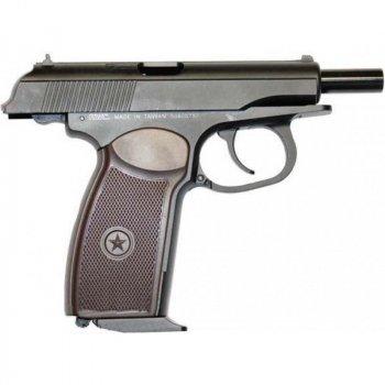 Пистолет пневматический KWC Makarov Blowback черный