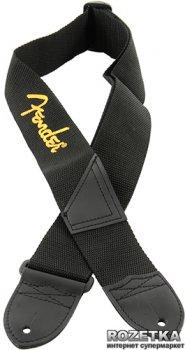 "Fender 2"" Black Polyester Logo Straps Black/Yellow (099-0662-070)"