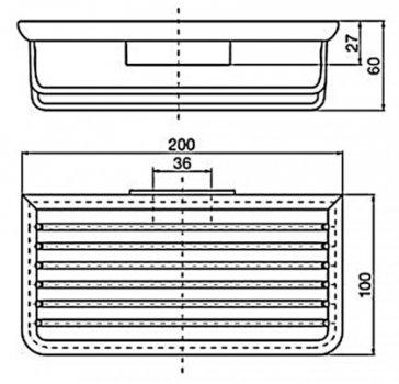 Мыльница-решетка EMCO System 2 3545 001 04