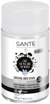 Сухой БИО-дезодорант для сверхчувствительной кожи Sante Crystal не ароматизированный 50 мл (4025089075721)