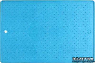 Малий антиковзаючий килимок під миски для собак і кішок Dexas Блакитний (dx30674)