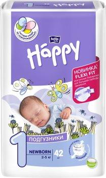 Підгузники дитячі Bella Baby Happy Newborn 2-5 кг 42 шт (5900516600693)