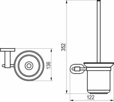 Ёршик для унитаза RAVAK Chrome CR 410 X07P196