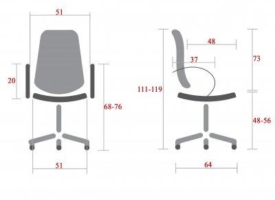 Кресло Rondi Орион PL Черное (1410197860)