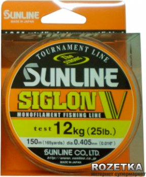 Леска Sunline Siglon V 150 м #6/0.405 мм 12 кг (16580413)