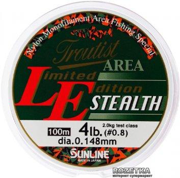 Леска Sunline Troutist Area LE Stealth 100 м #0.8/0.148 мм 2 кг (16580568)