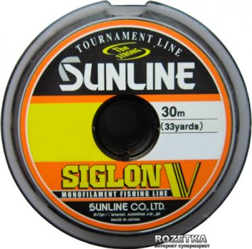 Леска Sunline Siglon V 30 м #0.8/0.148 мм 2 кг (16580489)