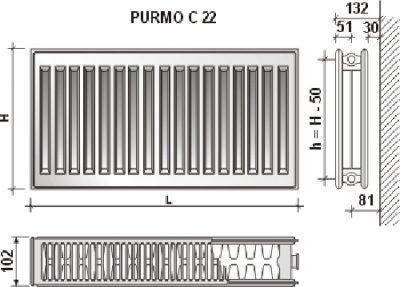 Радиатор PURMO Compact тип 22 500х1000