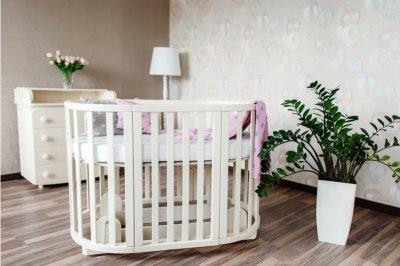 Детская кроватка-трансформер Angelo Кремовая (11026)