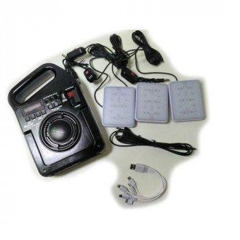 Радіо колонка GOLON RX з програвачем MP3 ліхтар від сонячної батареї LED лампи PowerBank 499BT
