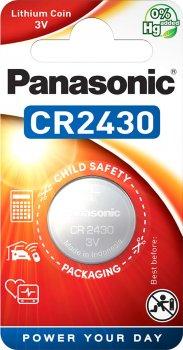 Батарейка Panasonic литиевая CR2430 блистер, 1 шт (CR-2430EL/1B)