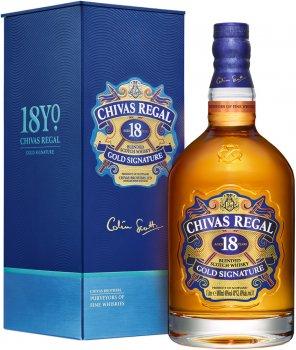Виски Chivas Regal 18 лет выдержки 1 л 40% в подарочной упаковке (5000299255049)