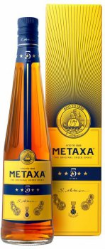 Бренди Metaxa 5* 0.7 л 38% в подарочной упаковке (5202795120054)