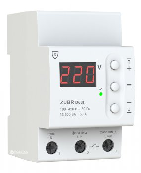 Реле напруги ZUBR D63t