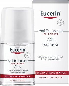 Антиперспирант-спрей Ecerin 72 часа защиты против чрезмерного потоотделения 30 мл (4005800028335)