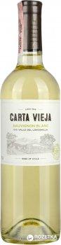 Вино Carta Vieja Sauvignon Blanc белое сухое 0.75 л 12% (7804310105355)