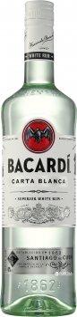 Ром Bacardi Carta Blanca від 6 місяців витримки 1 л 40% (5010677015738)