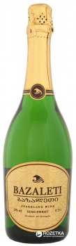 Вино ігристе Bazaleti біле напівсолодке 0.75 л 12% (4867616022590)