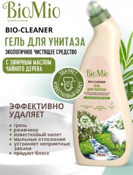 Антибактеріальний очисний еко засіб для туалету BioMio Bio-Toilet Cleaner з ефірною олією Чайного дерева 750 мл (4603014008039)