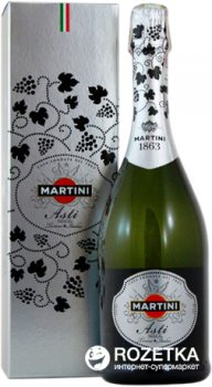 Вино ігристе Martini Asti біле солодке 0.75 л 7.5% в подарунковій упаковці (8000570283607)