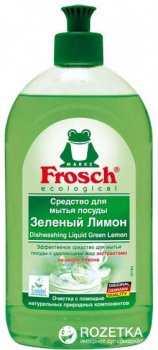 Средство для мытья посуды Frosch Зеленый лимон 500 мл (4009175161833_1)
