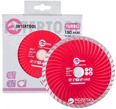 Алмазний відрізний диск Intertool 150 x 22.2 мм Turbo (CT-2008)