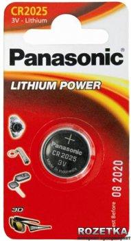 Батарейка Panasonic литиевая CR2025 блистер, 1 шт (CR-2025EL/1B)
