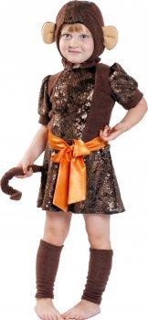 Карнавальный костюм Сашка Обезьянка НГ-104-9216 110-116 см Коричневый (971450)