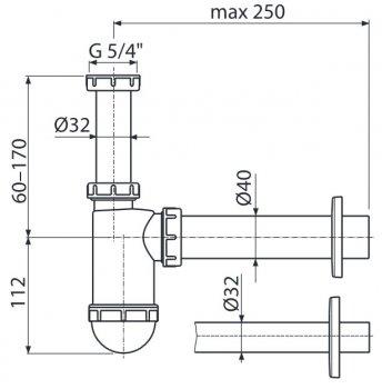 Сифон для раковины ALCA PLAST A43 (8594045930184)
