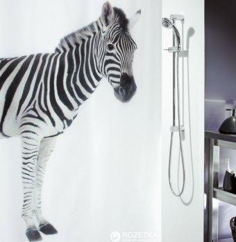 Шторка для ванної Spirella Zebra 180x200 Polyester Чорна (10.11554)