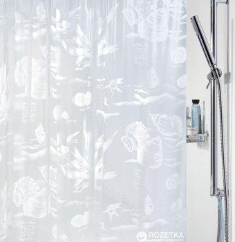 Шторка для ванної Spirella Riff 180x200 PVC Бiла (10.31544)