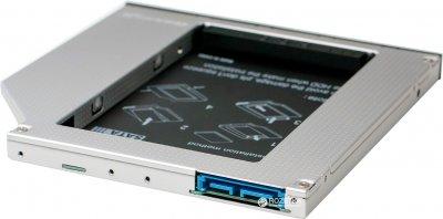 """Адаптер Grand-X для підключення HDD 2.5"""" в відсік приводу ноутбука SATA3 Slim 9.5 мм (HDC-26)"""