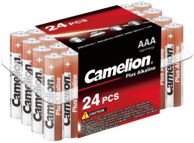 Батарейки Camelion Plus Alkaline AAA (LR03) 24 шт (LR03-PB24)