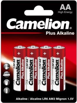 Батарейки Camelion Plus Alkaline AA (LR6) 4 шт (LR6-BP4)