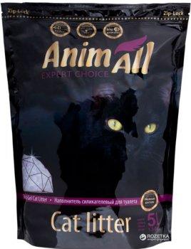 Наполнитель для кошачьего туалета AnimAll Премиум Фиолетовый аметист Силикагелевый впитывающий 2.2 кг (5 л) (2000981045425)