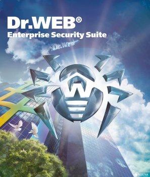 Антивірус Dr. Web Універсальний 40 робочих станцій + 40 користувачів пошти + 40 мобільних пристроїв + 1 файловий сервер + 40 користувачів шлюзу + центр управління на 1 рік