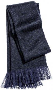 Шарф H&M 0417878 One size Темно-синий (6666000067951)