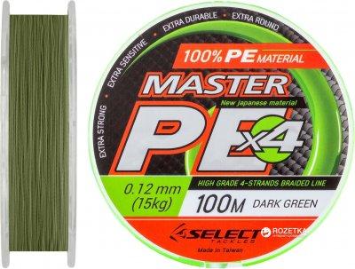 Шнур Select Master PE 100 м 0.12 мм 15 кг Темно-зеленый (18700143)