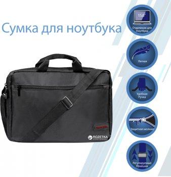 "Сумка для ноутбука Promate 15.6"" Black (gear-mb.black)"