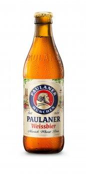 Упаковка пива Paulaner Hefe-Weissbier светлое нефильтрованное 5.5% 0.33 л x 24 шт (4066600611301)