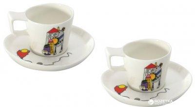 Набор чашек с блюдцем для кофе BergHOFF Eclipse 80 мл 4 пр (3705022)