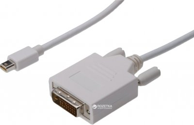 Кабель Digitus mini DisplayPort - DVI (24+1) AM/AM 1 м White (AK-340305-010-W)