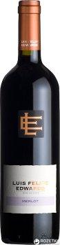 Вино Luis Felipe Edwards Merlot красное сухое 0.75 л 13% (7804414000648)
